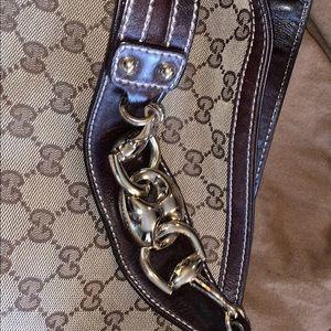Authentic large Gucci horsebit hobo EXC